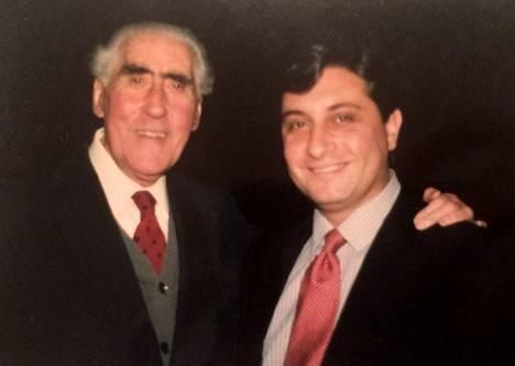 Ricardo Gullón y Manuel Pastor, Madrid 1988 (Foto: Ann M. Brown)