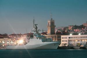 "La patrullera británica 'HMS Trent"" en la base naval de Gibraltar. (Foto: https://infogibraltar.com)."