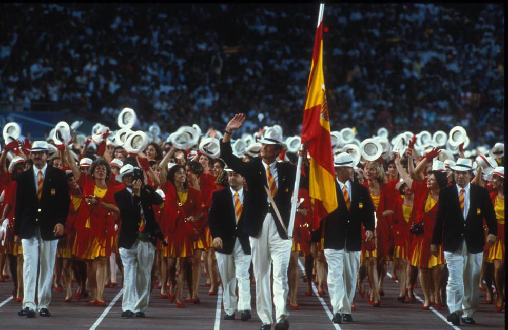 El actual Rey de España en la inauguración de los Juegos Olímpicos de Barcelona, 1992.