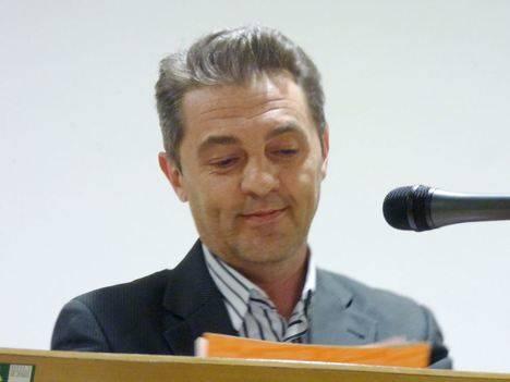 Enrique Bueno, candidato de C's al Congreso, durante su intervención