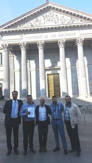 La directiva de JUSAPOL y el abogado y portavoz Antonio Vázquez Delgado