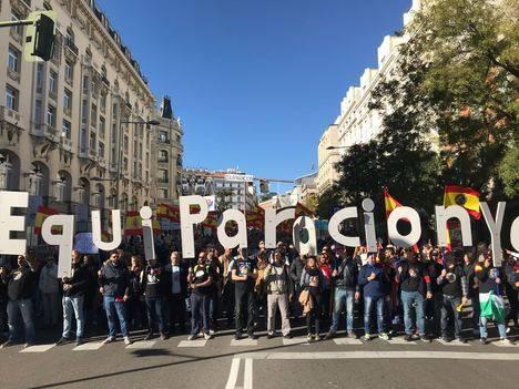 Éxito de la manifestación en Madrid por la equiparación salarial de las policías del Estado
