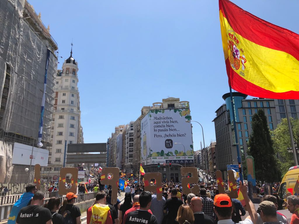 Manifestación del 5 de mayo en Madrid. Foto: La Crítica.