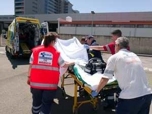 Llegada de la pequeña al Hospital de León. (Foto: La Crítica)