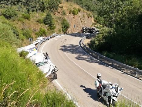 Accidente mortal en la carretera de La Magdalena (LE-493)