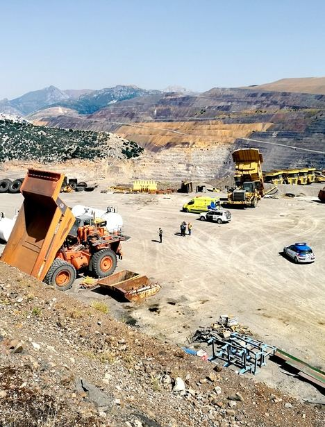 El lugar del accidente, en la mina de Santa Lucía. Fotos: La Crítica