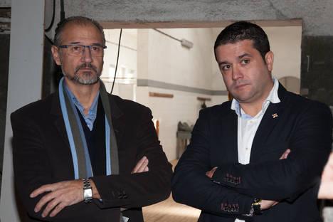 Luis Fuentes y el dimisionario Pedro Villanueva