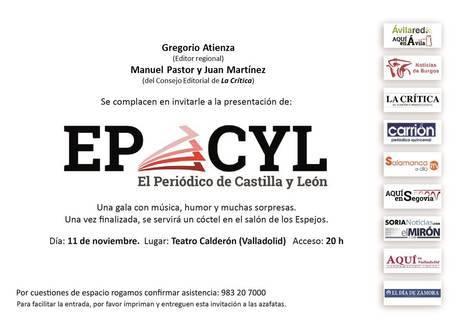 EL 11 DE NOVIEMBRE PRESENTACIÓN EN VALLADOLID 'El Periódico de Castilla y León'