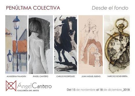 A. Falagán, Á. Cantero, C. Rodríguez, J.M. Bueno y N. Echeverría: Penúltima colectiva 'Desde el fondo'