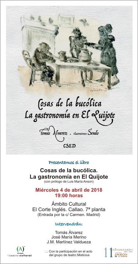Cosas de la bucólica. La gastronomía en El Quijote, de Tomás Álvarez