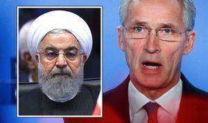 El Presidente de Irán, Hasán Rouhaní, y el Secretario General de la OTAN, Jens Stoltenberg. (Foto: https://www.express.co.uk/)
