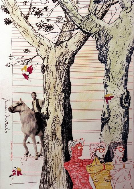 Lienzo, papel y metal en la galería Ángel Cantero