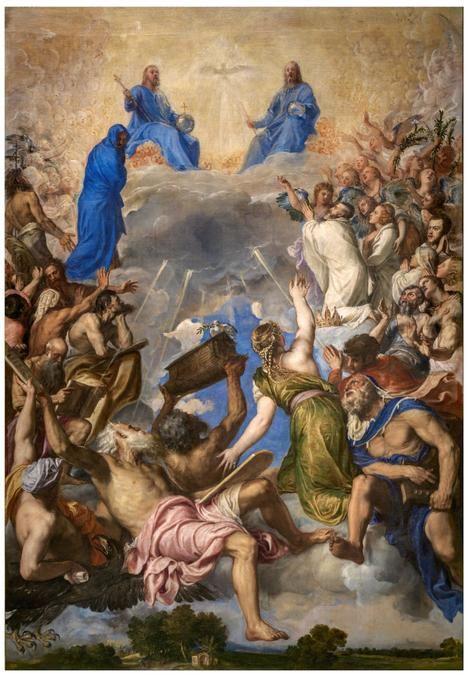 La Gloria, de Tiziano. (Museo del Prado)