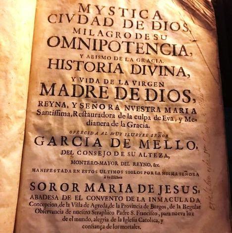 'La Mística Ciudad de Dios', de Sor María de Jesús de Ágreda. (Foto: https://www.reddit.com/r/rarebooks/).