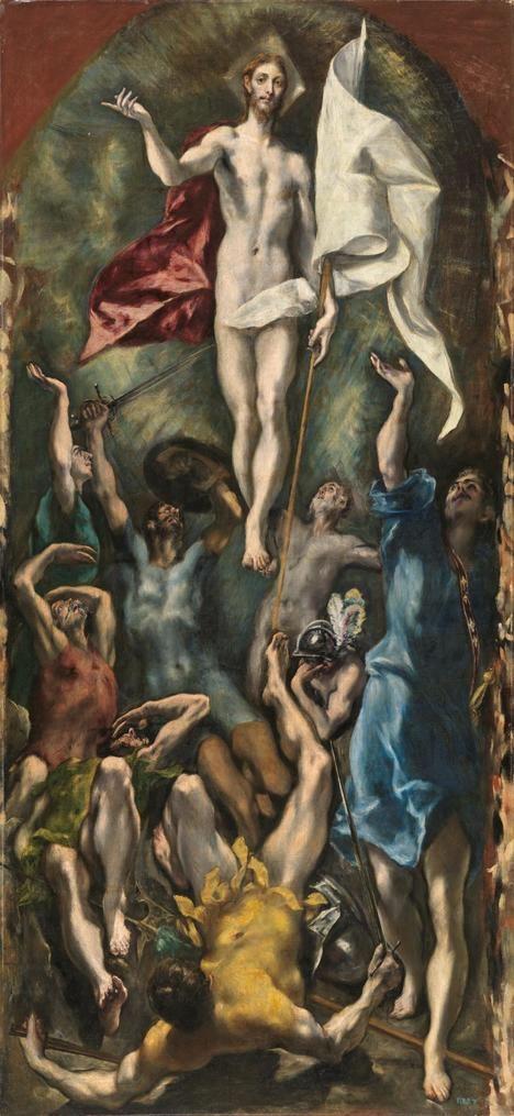 'La Resurrección de Cristo', El Greco. Museo del Prado, Madrid.