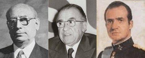 Enrique Tierno Galván, Santiago Carrillo Solares y SM el Rey Juan Carlos en los años 80. (Montaje fotográfico de La Crítica).