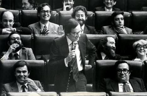 Moción de censusa de Felipe González a Adolfo Suárez en 1980.