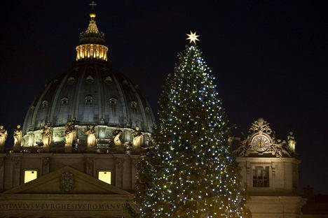 El árbol de Navidad del Vaticano