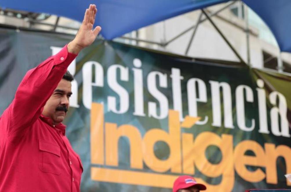 Nicolás Maduro durante un acto en Caracas para conmemorar el 'Día de la resistencia indígena'. |AFP (Fuente: elmundo.es)