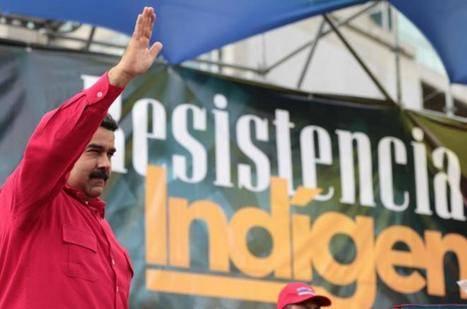 Nicolás Maduro durante un acto en Caracas para conmemorar el 'Día de la resistencia indígena'.  AFP (Fuente: elmundo.es)
