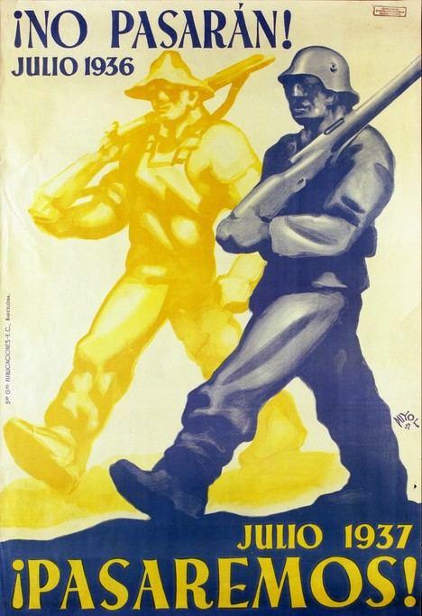 Cartel de propaganda de la Guerra Civil española.