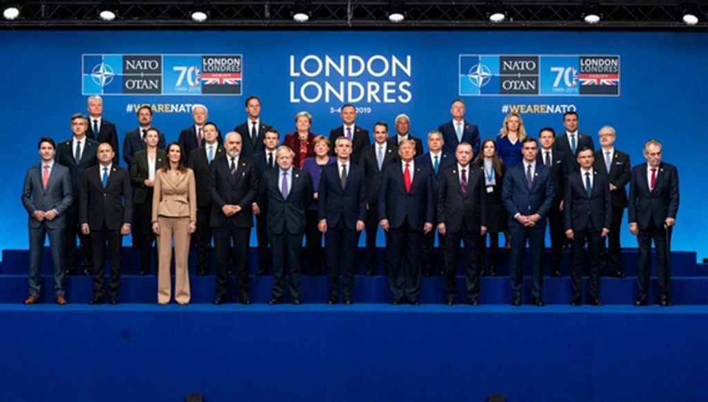 Foto de familia de los líderes de la OTAN.