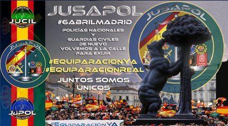Convoca Jusapol: todos a Madrid
