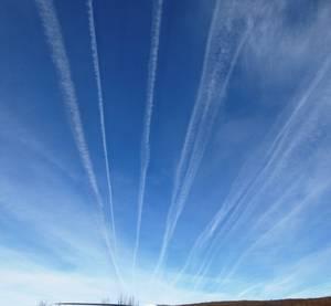 Contaminación aérea en rutas de aviación