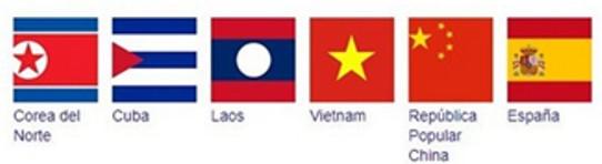 Países comunistas según Google.