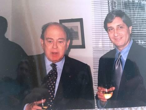 El presidente Jordi Pujol y Manuel Pastor en la Universidad de Harvard (Primavera de 2000).