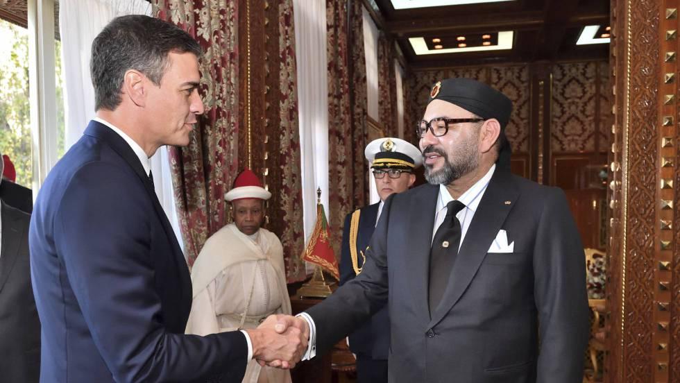 Pedro Sánchez y Mohamed VI, rey de Marruecos. (Foto: ECSAHARAUI).