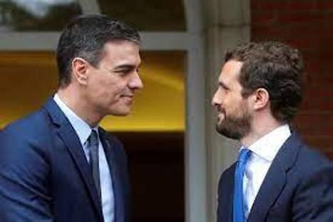 Pedro Sánchez y Pablo Casado. (Foto: RTVE)