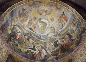 'El triunfo de los justos'. Ábside de la basílica del Sagrado Corazón en Gijón. (Foto: Wikipedia).