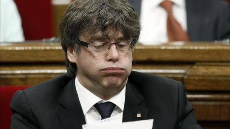 Carles Puigdemont bufando (Foto: http://www.eljueves.es/)