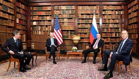 Los presidentes Putin y Biden en La Grange (Ginebra), el pasado 16 de junio de 2021.