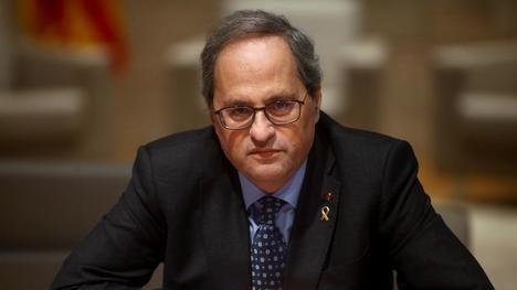 Quim Torra pierde su escaño en el Parlamento catalán. (Foto La Vanguardia / Quique García / EFE)