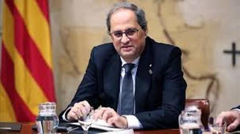 Quim Torra pide el confinamiento de Cataluña. (Foto: El Periodico)