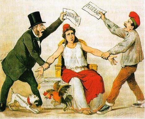 Ilustración: Revista 'La Flaca' de 3 de marzo de 1873. (Wikipedia)