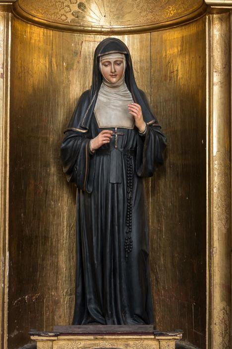'Santa Margarita María de Alacoque'. Talla de madera policromada. Siglo XX. Anónima. (Museos Colonial y Santa Clara, Ministerio de Cultura, Colombia).