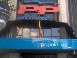 Sede nacional del Partido Popular en Madrid.