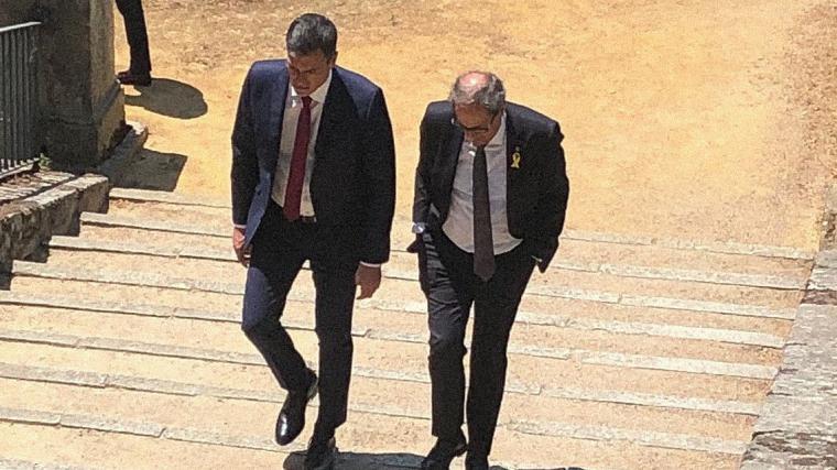 Pedro Sánchez y Joaquín Torra