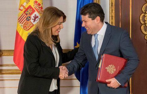 Los inefables Susana Díaz y Fabián Picardo. (Foto: Cadena Ser)