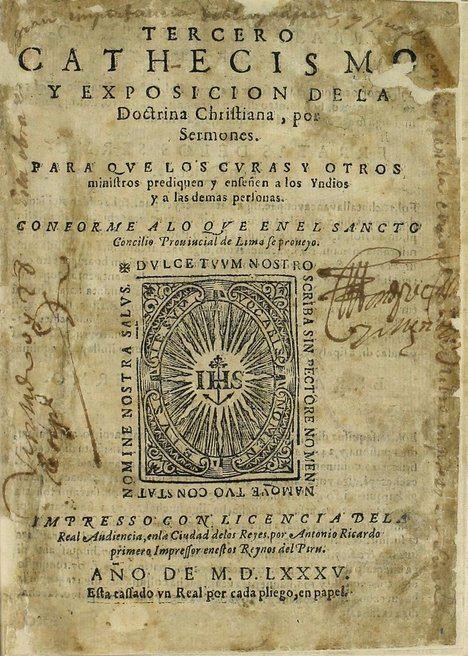 El Tercer Catecismo Limense. (Foto: https://www.wdl.org/es)