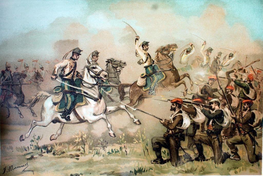 Acción en la Tercera Guerra Carlista. (Ilustración: Wikipedia)
