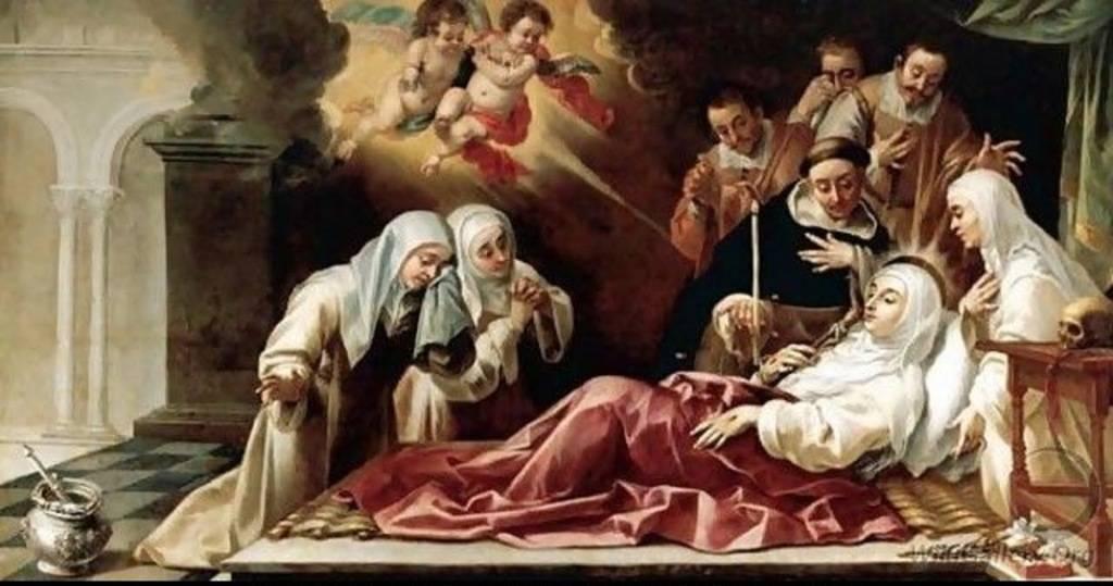 'La muerte de Santa Catalina de Siena' (http://catholikblog.blogspot.com.es)