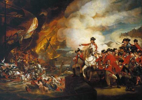 Último Sitio de Gibraltar por las tropas españolas (1779-1783) según John Singleton Copley en su obra 'The Siege and Relief of Gibraltar, 13 September 1782'. (https://es.wikipedia.org)