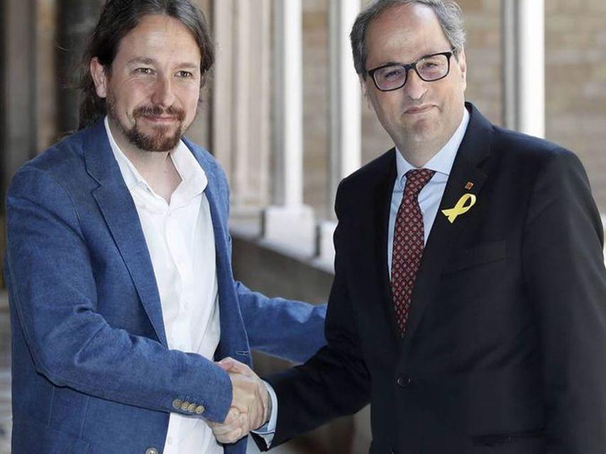 Pablo Iglesias y Quim Torra, de enhorabuena.
