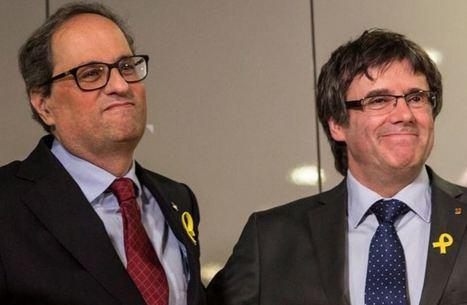 Los cabecillas de los golpistas, Torra y Puigdemont, campan a sus anchas fuera del alcance de la Justicia española. De momento.