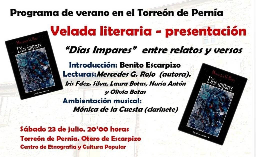 Velada literaria y presentación de Días impares de Mercedes G. Rojo