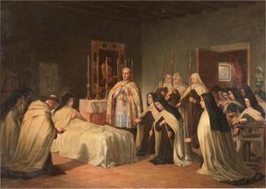 'Viático de Santa Teresa', de Pablo Pardo González, 1870. Museo del Prado, Madrid.